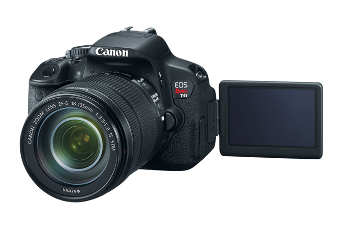 Canon EOS Rebel T4i lens screen