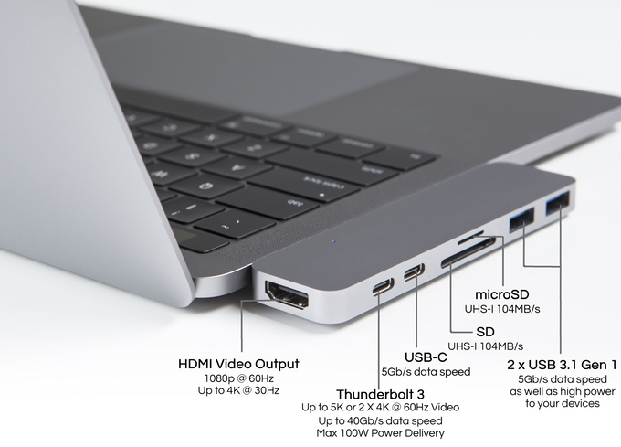 HyperDrive: Thunderbolt 3 USB-C Hub for 2016 MacBook Pro