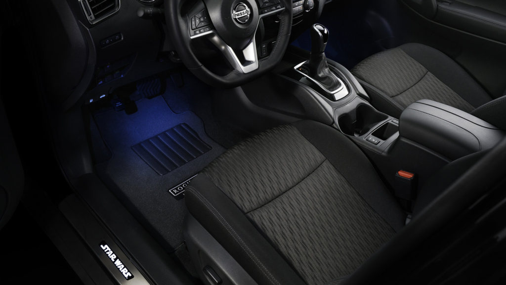 2017 NISSAN ROGUE: ROGUE ONE STAR WARS LIMITED EDITION INTERIOR SHOWN IN CHARCOAL CLOTH.