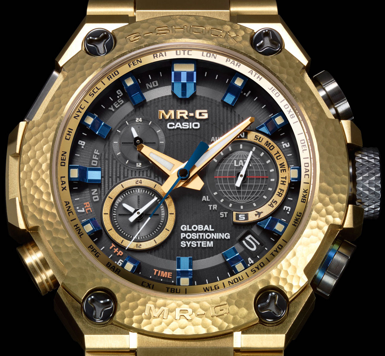 For $6200 you can own one of only 300 Casio G-Shock MRGG1000HG-9A, with only 10 available to the US. Each Casio G-Shock MRGG1000HG-9A Limited Edition MR-G Hybrid is handcrafted using the traditional Japanese Tsu-i-ki technique; a traditional craft method that creates unique relief patterns through hammering.