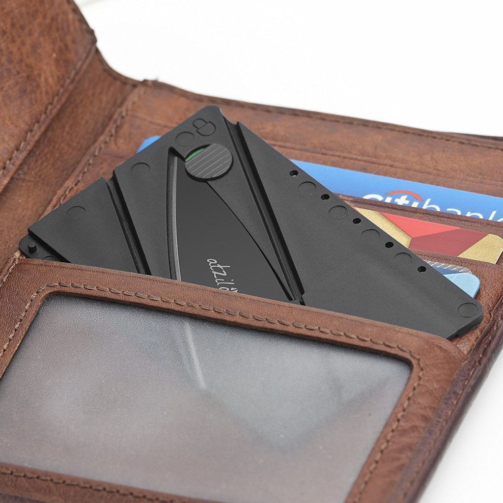 Atziloose Folding Credit Card Pocket Knife