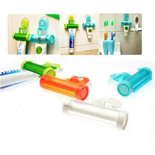 Rolling Toothpaste Squeezer and Toothpaste Hanger